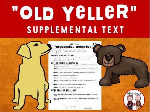 Old Yeller Discussion Questions Activity