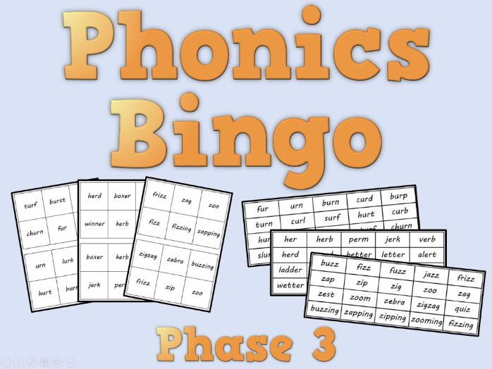 Phonics Bingo – Phase 3