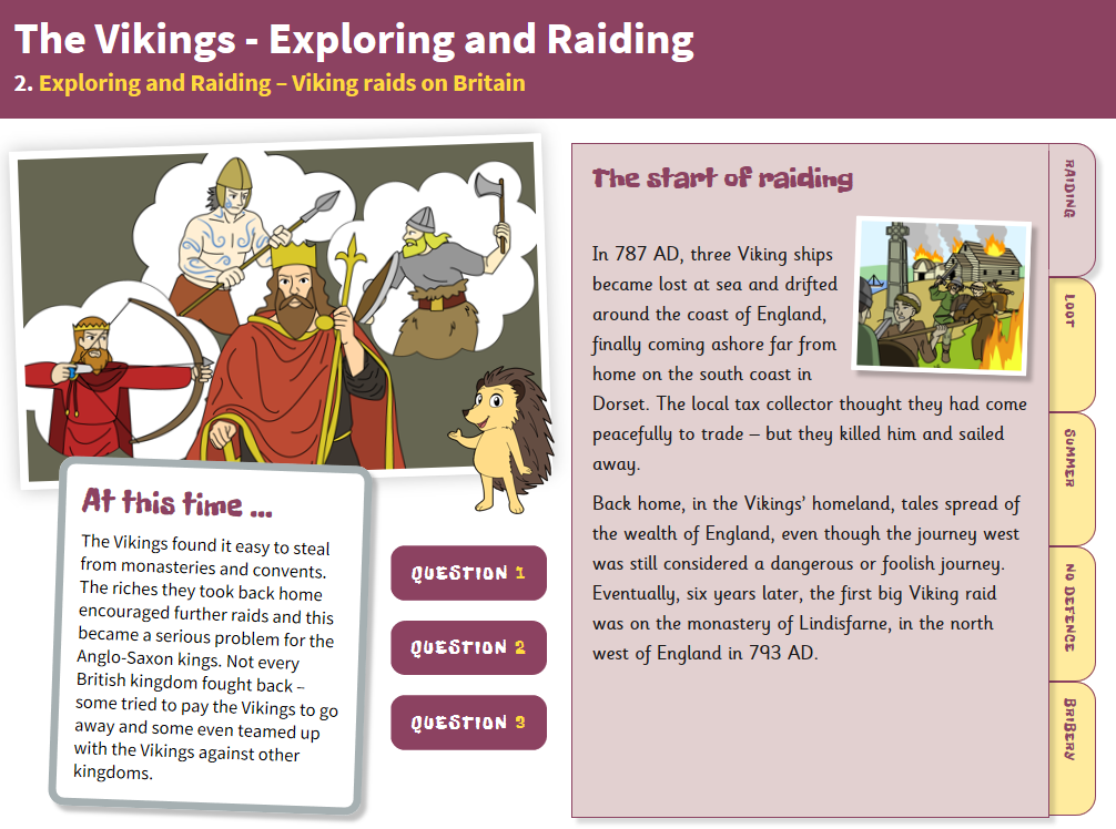 Raids on Britain - Interactive Teaching Book - The Vikings KS2