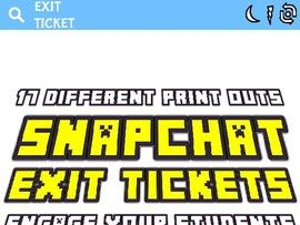 Snapchat Exit Tickets