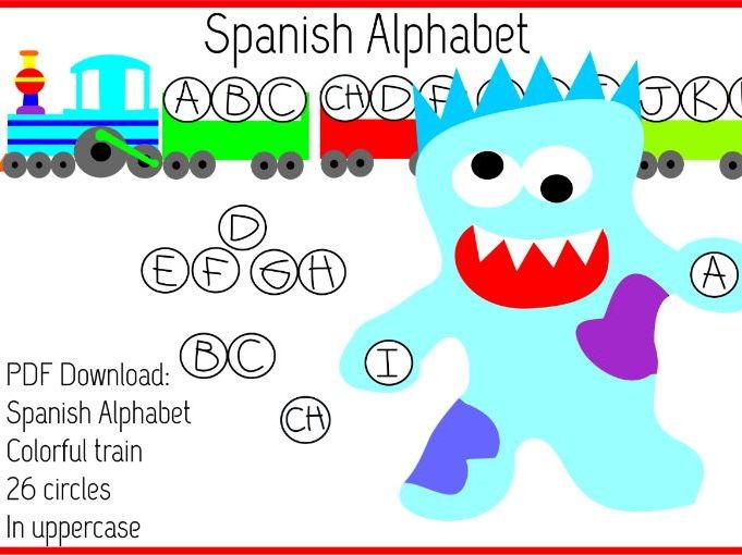 Spanish Alphabet Letter Train