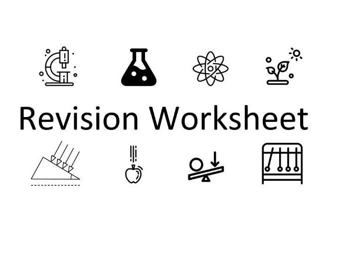 KS4 Revision Worksheets: Homeostasis