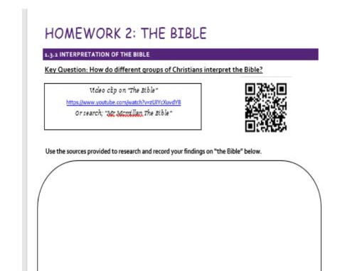 Edexcel Religious Studies Spec A: 1.3 Sources of Wisdom and Authority - Five homework Tasks