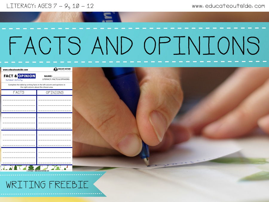 Facts And Opinions Outdoor Writing Activity