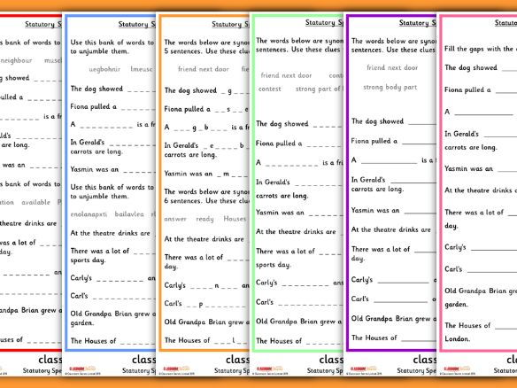 statutory spellings practise upper ks2 worksheets by classroomsecrets teaching resources. Black Bedroom Furniture Sets. Home Design Ideas