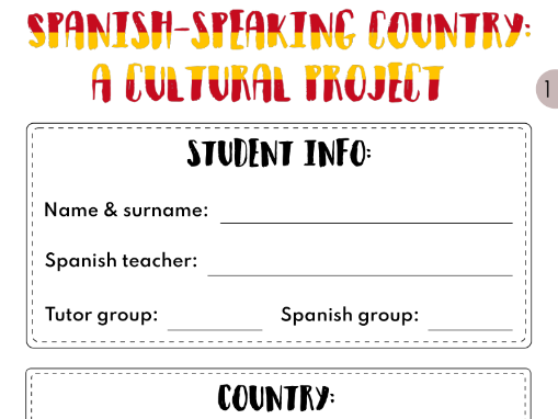 Spanish-speaking country: a culture project