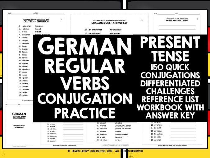 GERMAN REGULAR VERBS CONJUGATION #1