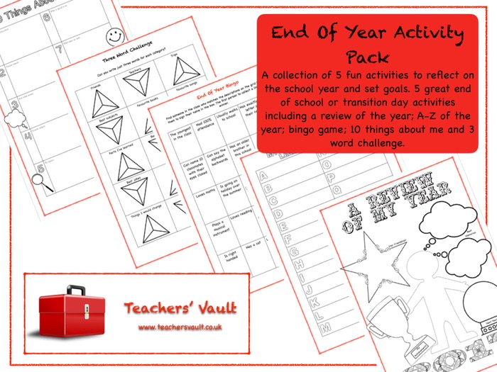End Of Year Activity Pack