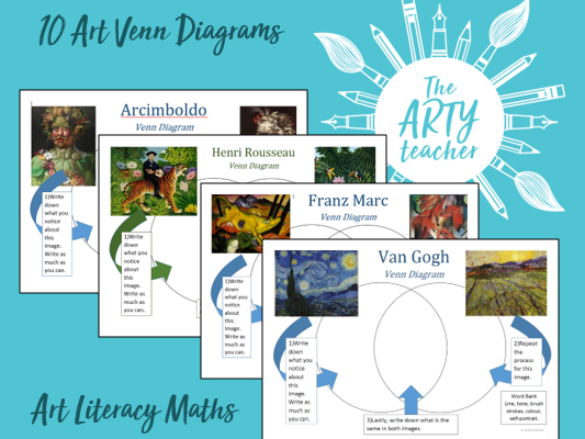 Art Analysis Venn Diagrams (Art, Litercy, Maths)