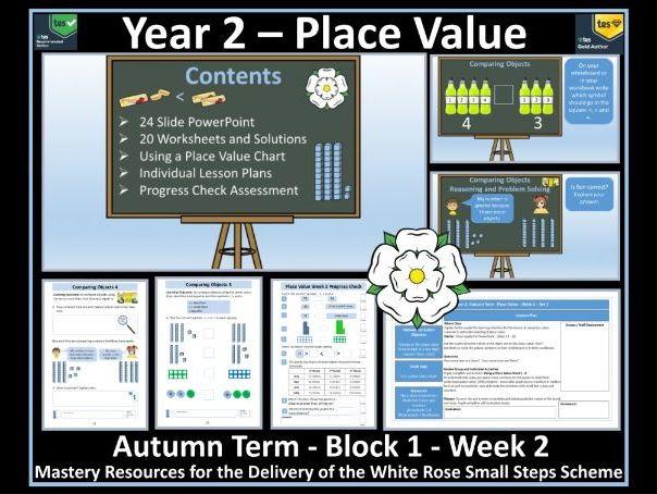 Place Value: Year 2 - Autumn Term - Week 2 - Maths' Resources For Delivery of White Rose Scheme
