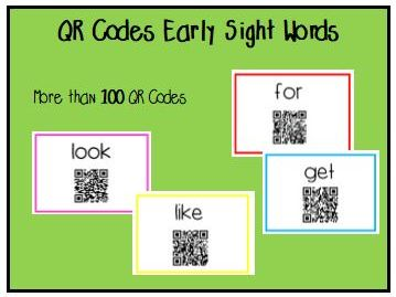 Early Sight Word QR Codes