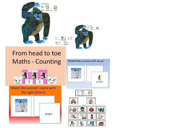 From Head to Toe'' story and activities for SEN learners - widgit symbolised