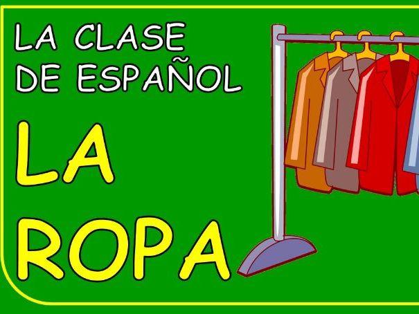 La ropa- clothing in Spanish