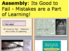 Assembly: Its Good to Fail - Mistakes are a Part of Learning: Growth Mindset and Resilience