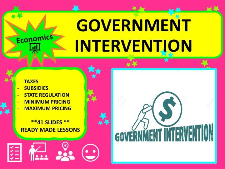 A Level Economics Government Intervention to correct Market Failure