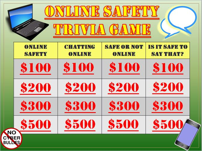 Online Safety and Digital Citizenship Trivia Game