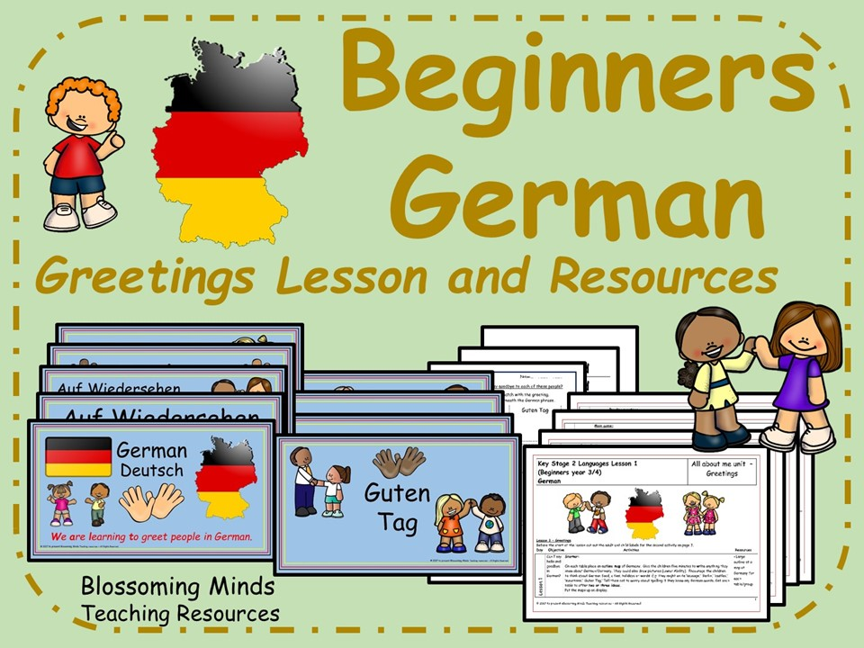 German lesson and resources - Greetings lesson