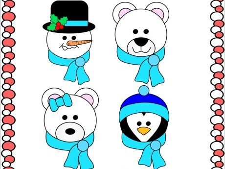 Cut and Paste Winter Crafts - Winter Friends