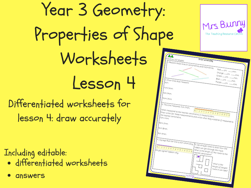 4. Geometry: draw accurately worksheets (Y3)