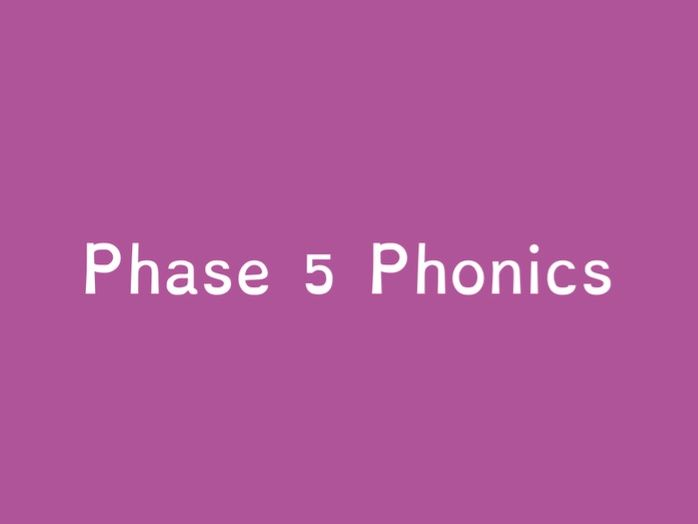 Phase 5 - Sounds Tricky Words and Sound Buttons