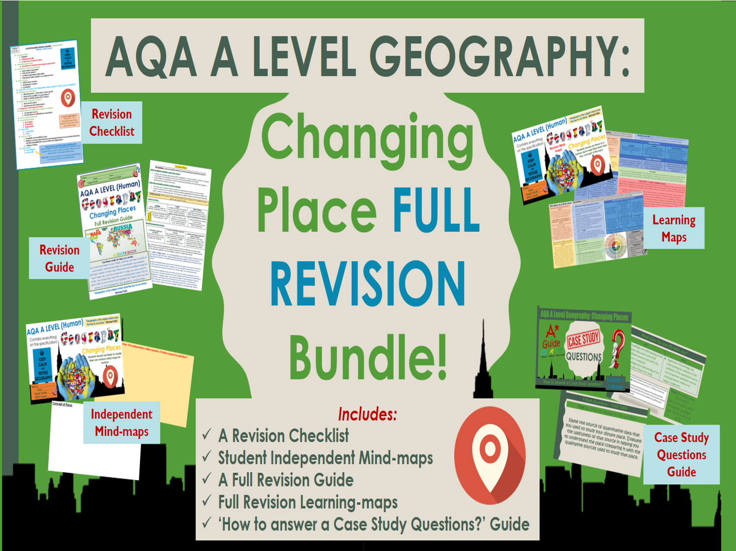 AQA A Level Geography: Changing Places Revision Bundle!