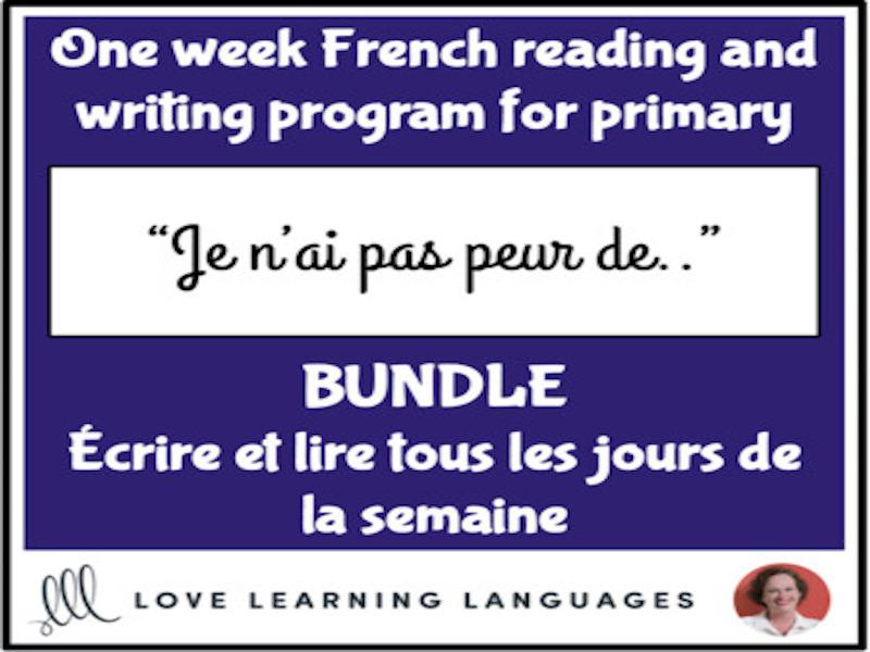 Lire et écrire tous les jours #4 - French primary reading and writing BUNDLE