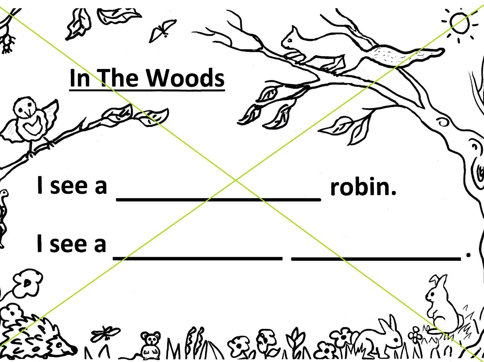 Woodland Writing - 3 simplest levels