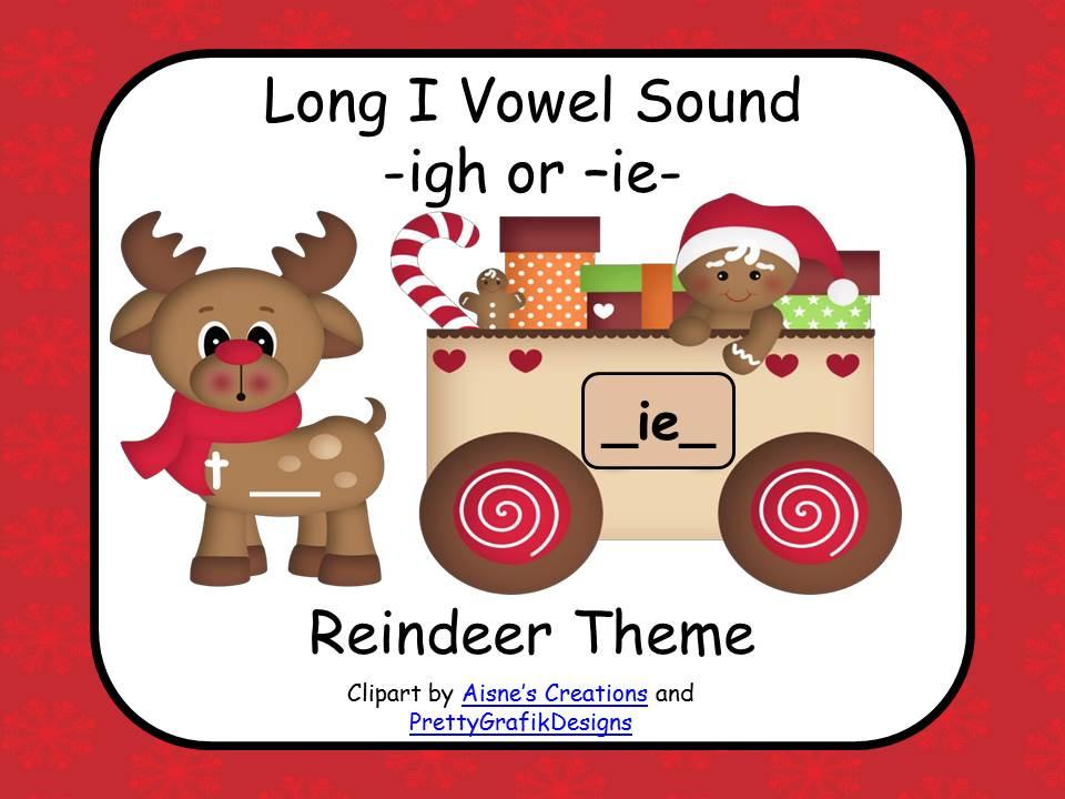 Long Vowel I - Reindeer or Christmas Theme