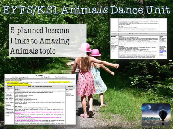 KS1 PE Amazing Animals Dance Unit