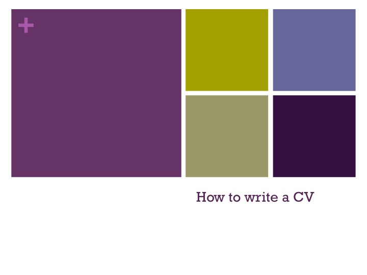 How to write a CV for GCSE & A-Level students