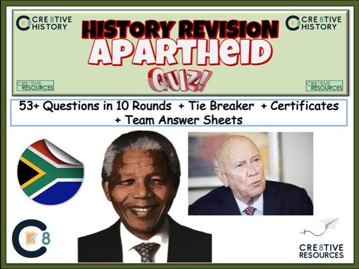 Apartheid History Quiz