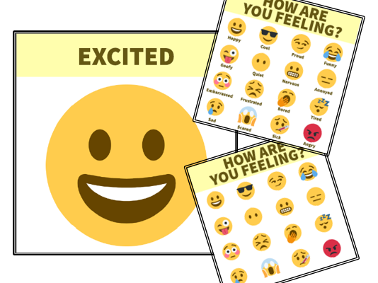 Emoji feelings and emotions display / chart