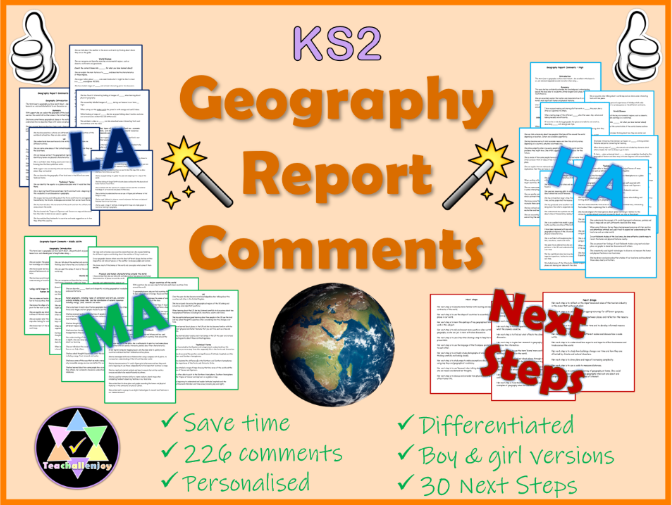 Geography Report Comments