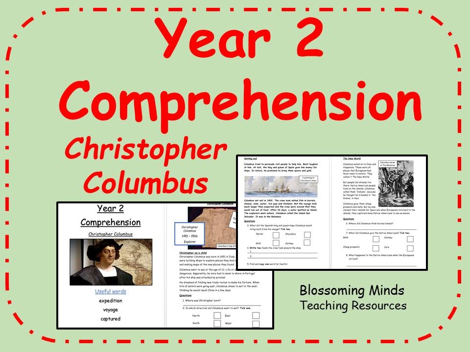 KS1 SATs comprehension -  Christopher Columbus, history