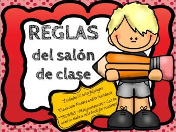 Reglas del Salon de Clase - Classroom Rules Posters in SPANISH