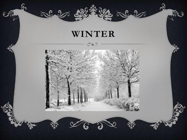 Descriptive writing: Winter