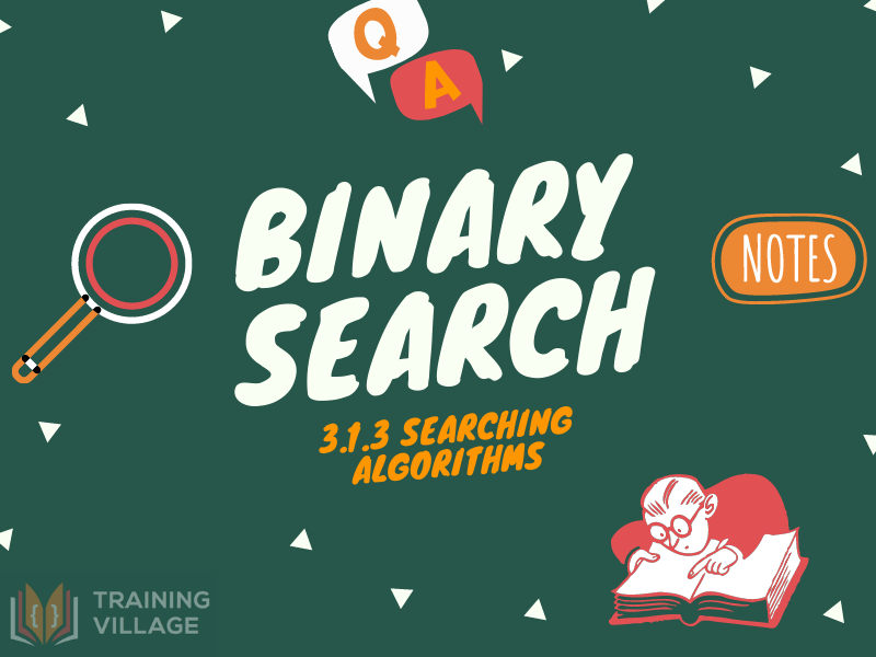 Binary Search Algorithm | GCSE Revision Workbook