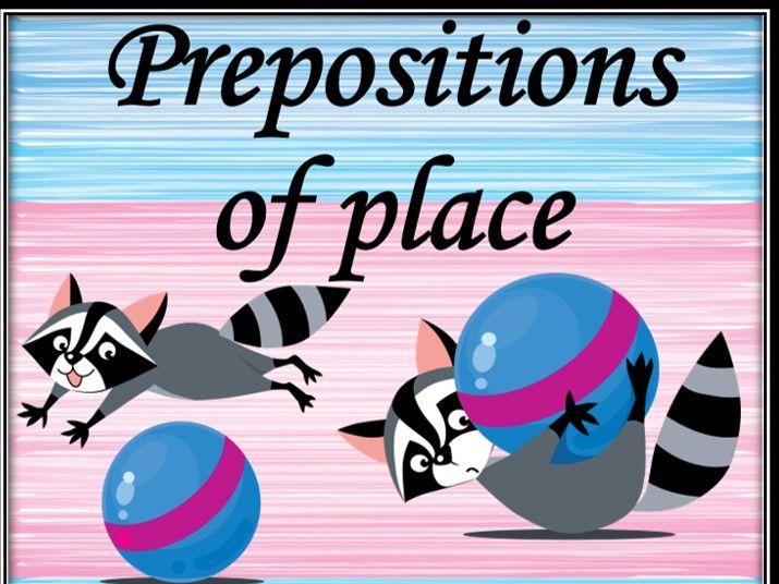 Prepositions of place. Bundle.