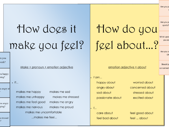 TEFL language patterns - Talking about feelings
