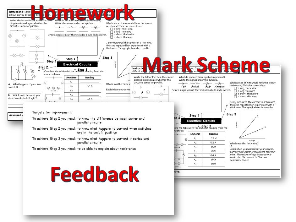 KS3 Physics homework tasks