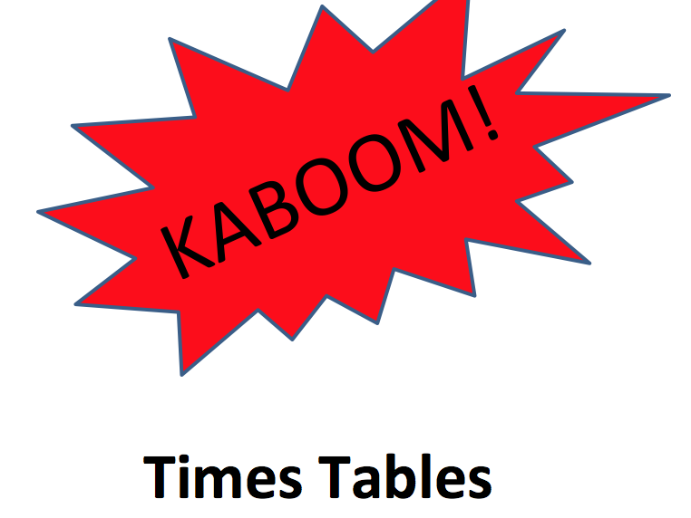 Times Tables Kaboom Game - up to 12 x 12