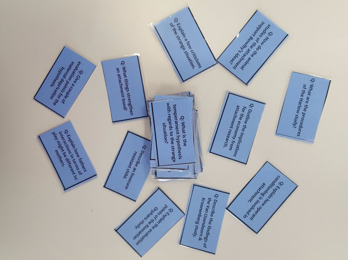 Paper 1 AQA Psychology REVISION CARDS (Social Influence, Memory, Attachment, Psychopathology)