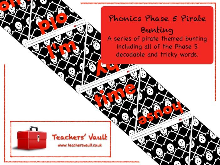Phonics Phase 5 Pirate Bunting