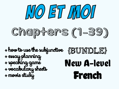 No et moi - BOOK STUDY - Etude des chapitres 1 à 39 - Worth £49!!