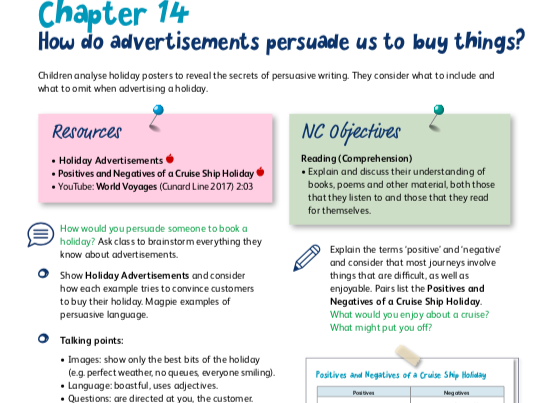 Persuasive Writing Sequence: Advertising