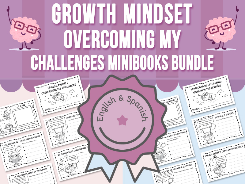 Growth Mindset - Overcoming My Challenges Mini-books BUNDLE