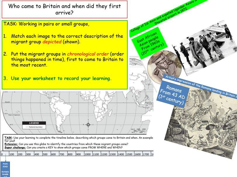 KS3, Year 7, Migration overview: Who came to Britain and when?