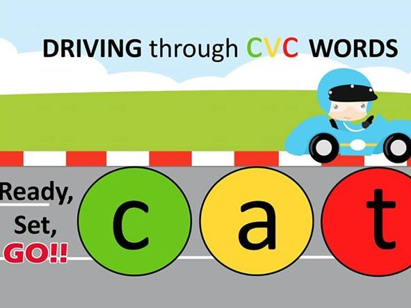 CVC word building race car theme