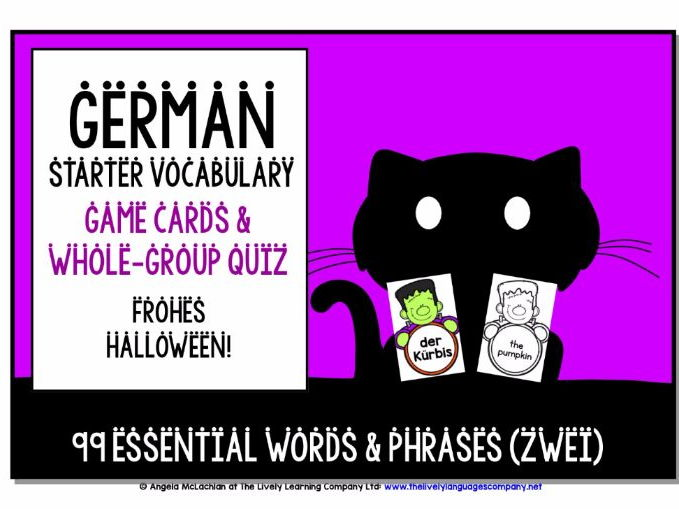 GERMAN VOCABULARY HALLOWEEN GAMES & QUIZZES 99 WORDS & PHRASES (2)