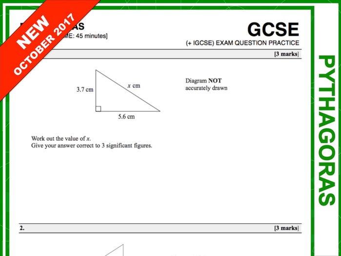 GCSE 9-1 Exam Question Practice (Pythagoras)